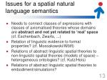 issues for a spatial natural language semantics