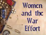 women and the war effort