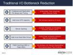 traditional i o bottleneck reduction