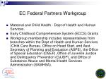 ec federal partners workgroup