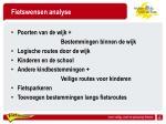 fietswensen analyse