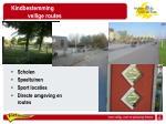 kindbestemming veilige routes