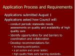 application process and requirements