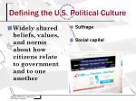 defining the u s political culture