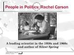 people in politics rachel carson