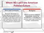 where we learn the american political culture1