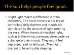 the sun helps people feel good1