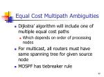 equal cost multipath ambiguities