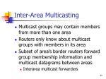 inter area multicasting