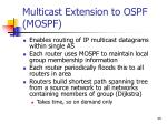 multicast extension to ospf mospf