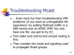 troubleshooting mcast