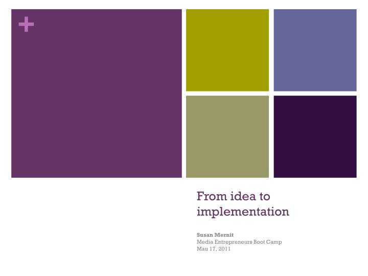 from idea to implementation n.