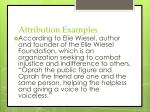 attribution examples