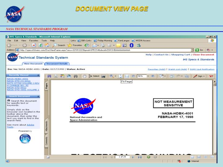 DOCUMENT VIEW PAGE