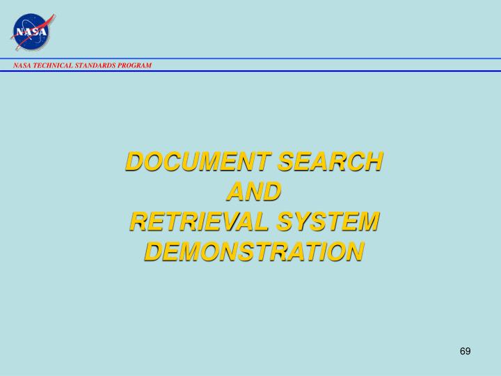 DOCUMENT SEARCH