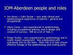 iom aberdeen people and roles