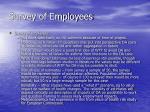 survey of employees