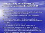 task 5 survey of employees to ascertain employment effects of oa1