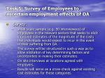 task 5 survey of employees to ascertain employment effects of oa2
