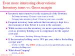 even more interesting observations inventory turns vs gross margin