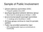 sample of public involvement