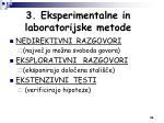 3 eksperimentalne in laboratorijske metode1