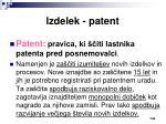 izdelek patent