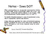 notes iowa dot