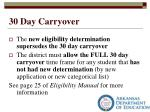 30 day carryover3