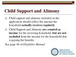 child support and alimony