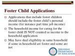 foster child applications