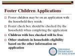 foster children applications