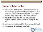foster children list