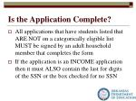 is the application complete3