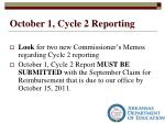 october 1 cycle 2 reporting1