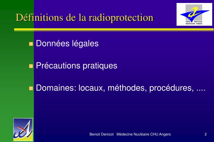 d finitions de la radioprotection n.