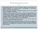 marketing la guvernare