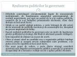 realizarea politicilor la guvernare