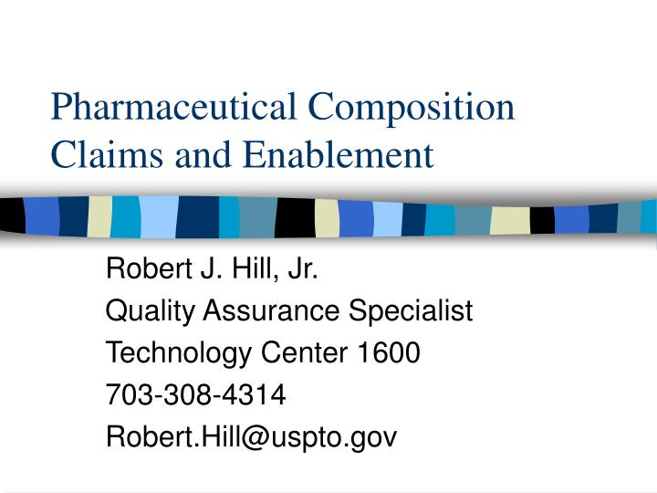 pharmaceutical composition claims and enablement n.