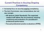current practices in assuring ongoing competency1