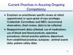 current practices in assuring ongoing competency3