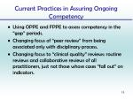 current practices in assuring ongoing competency5