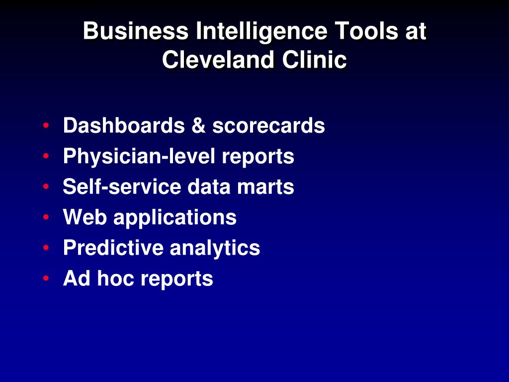 PPT - Cleveland Clinic's Physician Portal: Managing Physicians to