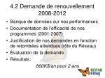 4 2 demande de renouvellement 2008 2012