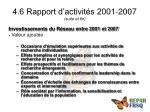 4 6 rapport d activit s 2001 2007 suite et fin