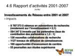 4 6 rapport d activit s 2001 2007 suite