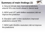 summary of main findings 2