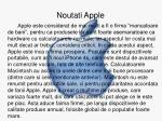 noutati apple