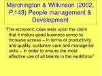 marchington wilkinson 2002 p 143 people management development