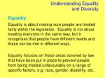 understanding equality and diversity